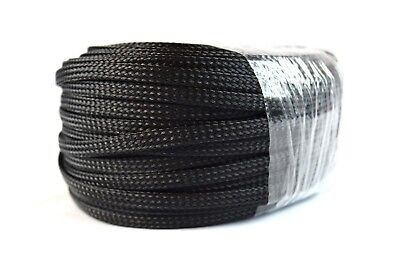 "1/4"" Braided Expandable Wire Loom 100FT Black Harness Cover Sleeving"