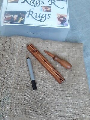 Rag Rug  Making Proddy Craft Kit/ Tools/ Hessian/ Boxed.