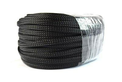 "3/8"" Braided Expandable Wire Loom 100FT 10M Black Harness Cover Sleeving"