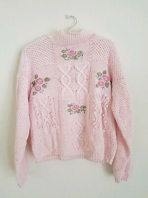 Shenanigans 80's/90's Vintage Candy Colored Floral Sweater L