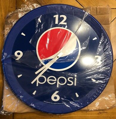 "NOS VTG 90s Pepsi Cola Wall Clock 18"" restaurant bar advertising FREE SHIP USA"