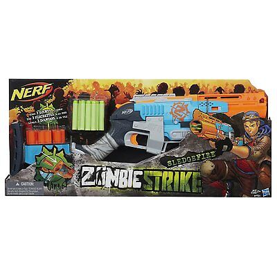 Nerf  Dart Gun Zombie Strike Sledge Fire Blaster Set Kids Christmas Toy Hot Item