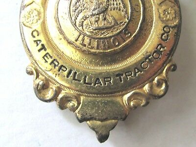 Old Obsolete Badge Caterpillar Tractor Co - Security