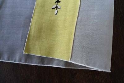 NWT Vintage Set Organdy Placemats Embroidered Green Linen Indian Head