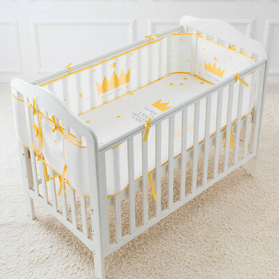 4 Sides Infant Baby Mesh Bumper Home Bed Bedding Crib Cot Cushion Protector