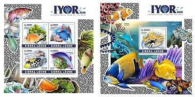 Z08 IMPERF SRL18419ab Sierra Leone 2018 Year of the Reef MNH ** Postfrisch Set