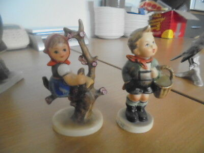 Collectors Goebel Village boy and girl Hummel