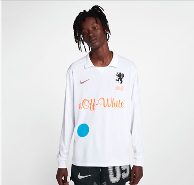 846bde37f Nike x Off-White Football Jersey Mon Amour Soccer White Long Sleeve Large