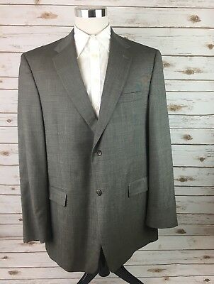 Society Brand Ltd. Suit Coat Wool (?) Mens 46L Single Vent 2 Button Gray USA
