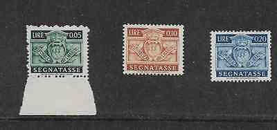 San Marino Postal Issue - 1945 -  3 Different Postage Due Mint Hinged Stamps,