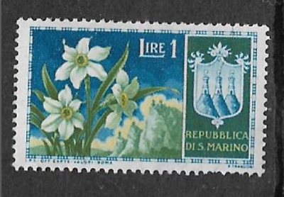 San Marino Postal Issue - 1953 Mint Never Hinged Commemorative Stamp - Flowers