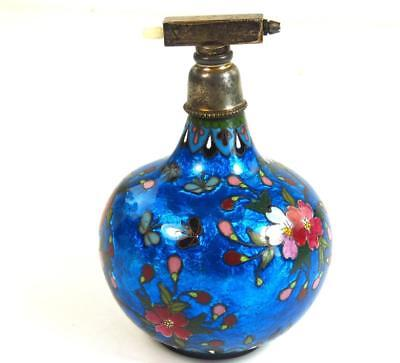 Antique Japanese Ginbari Cloisonne Perfume Atomiser Bottle