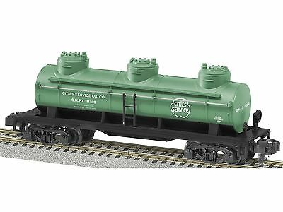 S Gauge American Flyer-Lionel 6-48438 Cities Services Three-Dome Tank Car