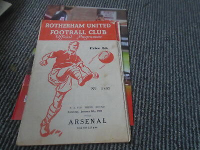 Rotherham United V Arsenal 1959-60 Fa Cup 3Rd Round