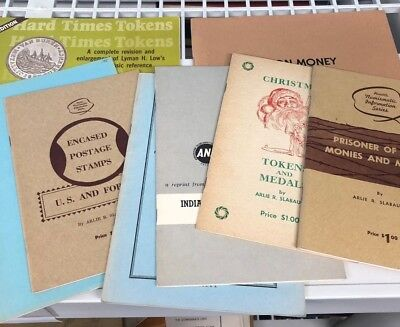 Lot of 12 Numismatic Books on Rare Coins, Medals, & Tokens by Breen & Others