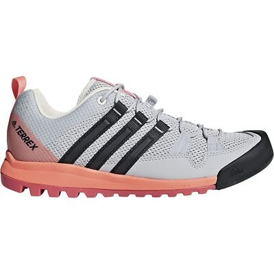 ADIDAS OUTDOOR TERREX Solo Approach Shoe Women's Grey TwoCarbonChalk Coral 8