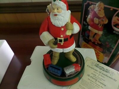 """Coca-Cola 1St In Series Santa Claus Mechnical Bank 8 34"""""""