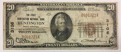 1929 $20 National Banknote - Huntington - Small Size CH#3106 SKU#14036