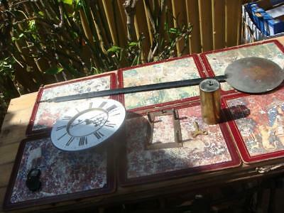 Antique Clock Part Vienna  Movement With Pendulum For Restoration Spare / Repair