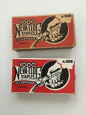 Neva-Clog A.1000 Staples x 2 boxes of 1000
