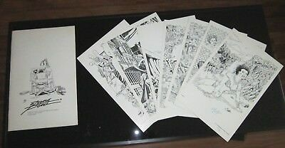 1977 Limited Edition Artist Portfolio Plates Prints Signed by George Perez