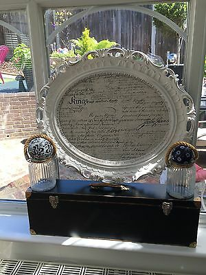 Large French Picture Frame, Script Txt Shabby Chic Clear Matt Varnish To Protect