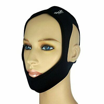 The Claro Adjustable Premium Anti Snoring Chin Strap, Snoring Solution (Black)