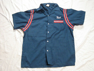 Pabst Blue Ribbon PBR Beer Bowling League Shirt By Hilton Large EX!