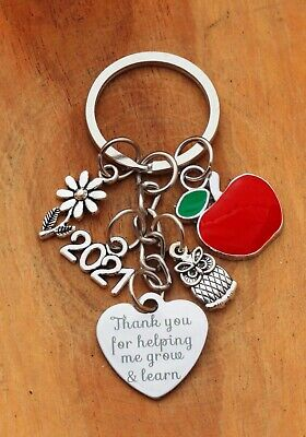 THANK YOU GIFT FOR TEACHER Teaching assistant Nursery teacher - Apple Keyring