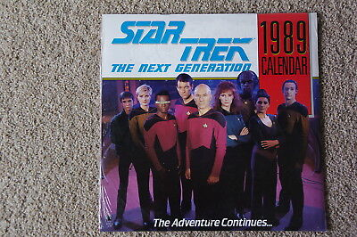 Calendar Star Trek Next Generation 1989 NEW sealed unopened