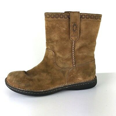 d577e4f65a8 UGG AUSTRALIA MENS Size 10 Aliso Boots Brown Suede Shearling Pull On S/N  1756