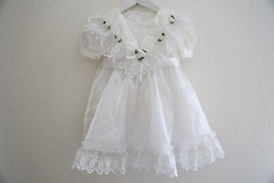 Vtg. Toddler Girls Lace Victorian  Party Pageant Dress Sz 5/6