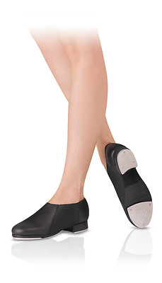Leo's Dancewear Slip-On Jazz Tap Shoe Boot Tan Black LS3007L LS3007G Adult Youth