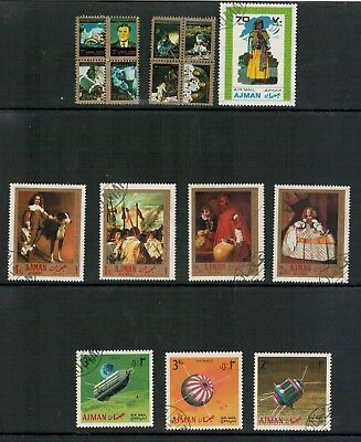 Lot 4964 - Ajman - Selection of 16 stamps from various years