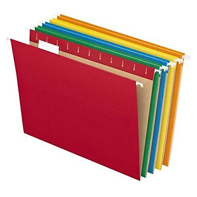 Pendaflex Recycled Hanging File Folders, Letter Size, Assorted Colors, 1/5 Cut,