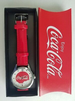 Avon Coca-Cola Christmas Bear Watch - Red
