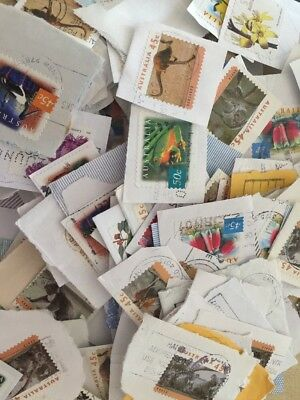 100 Used Australian Stamps Bulk Recent & Old 45c 50c