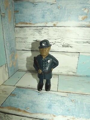 Vintage Cast Iron Bank  Police Officer Value Priced $25 Shipped