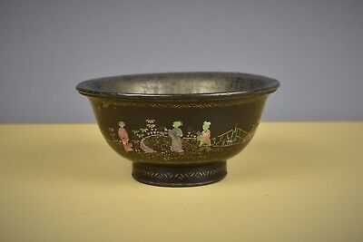 Fine Chinese Lac Burgaute Ming Dynasty Large Bowl