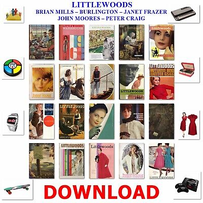 1930s – 40s – 50s – 60s LITTLEWOODS MAIL ORDER CATALOGUE ANTIQUE COLLECTIBLE DVD