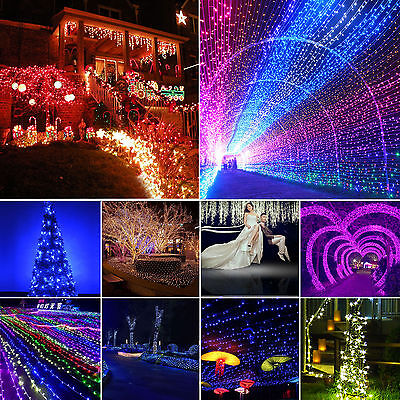 100/200/300/500 LED Christmas String Lights Wedding Fairy Outdoor Indoor 1M-100M