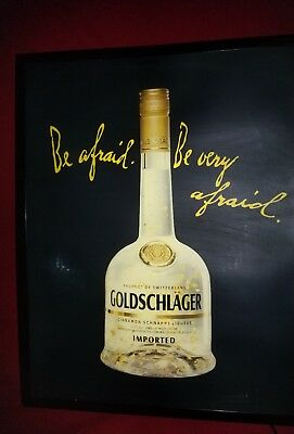 Goldschlager liquor light up sign