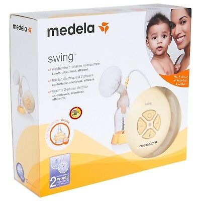 Medela Swing Electric Breast Pump with Calma Boxed