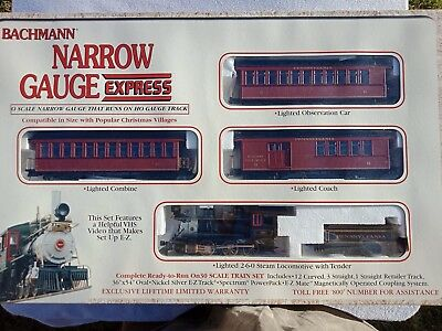Bachmann Pennsylvania HO Narrow Gauge Express Train Set In Box With Tracks