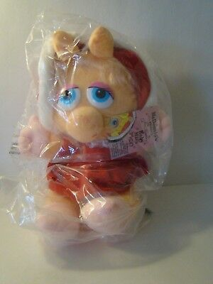 Mcdonald's Baby Miss Piggy Plush Doll Toy 1988 Jim Henson Muppet