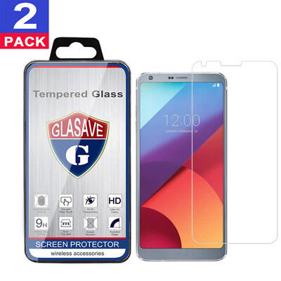 (2 Pack) GLASAVE Tempered Glass Screen Protector Film Saver For LG G6