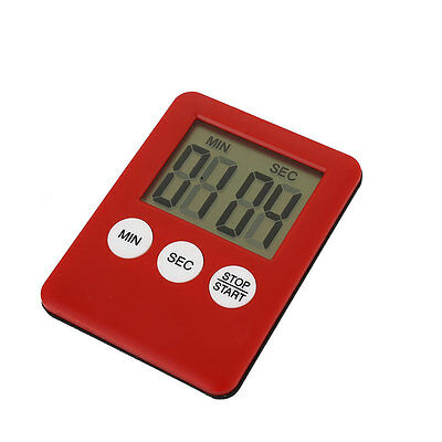 47FC0CB Digital 1.8'' LCD Display Magnetic Kitchen Counter Gym Run Magnet Timer