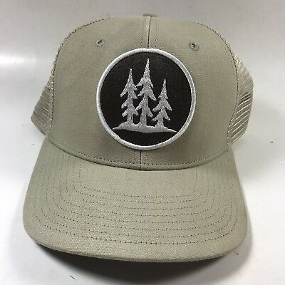 "16e480abcba Vintage PATAGONIA ""3 Trees"" Trucker Hat Tan Snapback Baseball Cap PATCH Rare !"