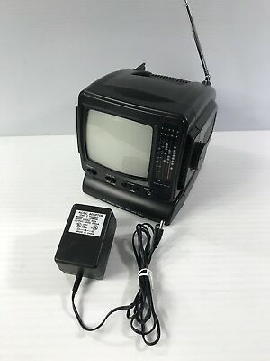 "5"" B&W Portable TV UHF VHF AM FM CRT • TV & Radio Model PK-4187"