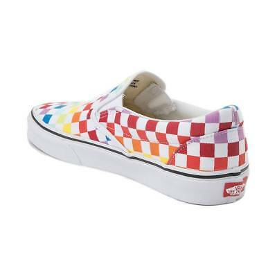 74402a0d154 NEW VANS SLIP On Rainbow Chex Skate Shoe Multi Checker -  79.99 ...